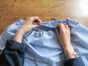 DIY // Comment coudre une robe à épaules dénudées // How to sew an off shoulders dress // A Cardboard Dream Blog