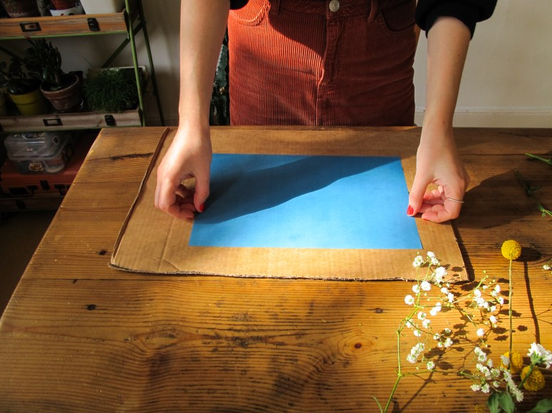 Technique : Faire des impressions grâce au soleil // How to make sunprint // A Cardbaord Dream blog