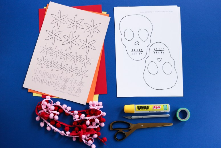 DIY // Comment réaliser une guirlande en papier Dia de los muertos // How to make a Day of the Dead paper garland.