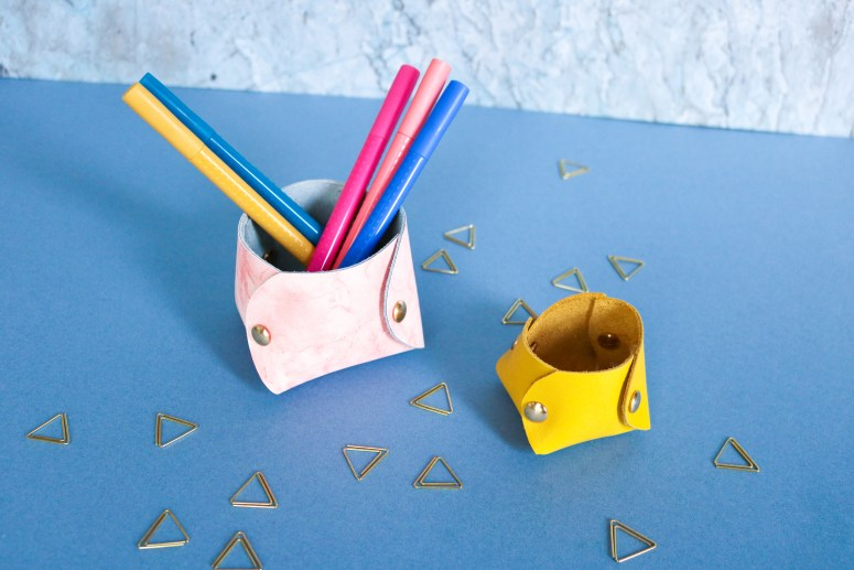 DIY // Fabriquer des vide-poches en cuir // How to make leather holder // A Cardboard Dream blog