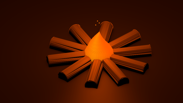 fire low poly isomatric