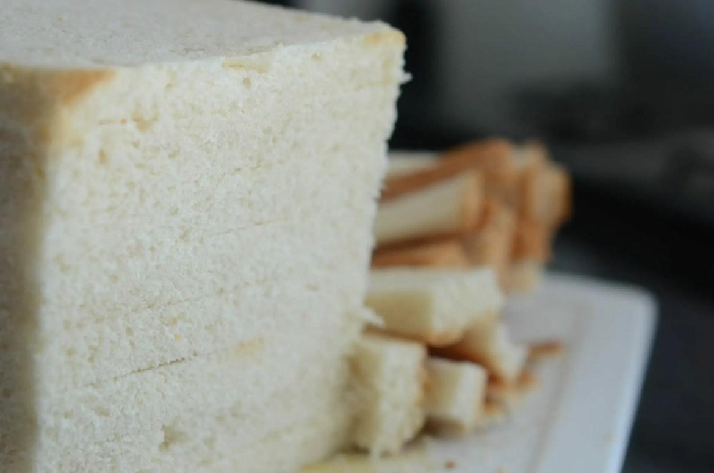 Pão nagoya para fazer farinha panko