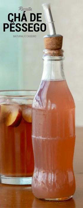 Receita de xarope de pêssego natural para chá de pêssego gelado.