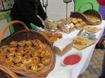 Various pies with rhubarb