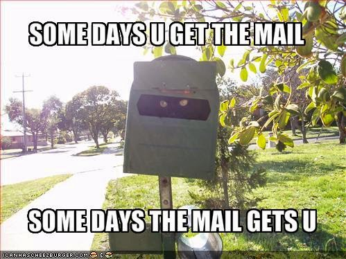 A to Z Challenge, Day 16:  P Is For Postal Mail