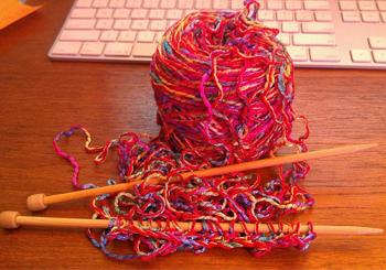 K Is For… Knitting!  Again!