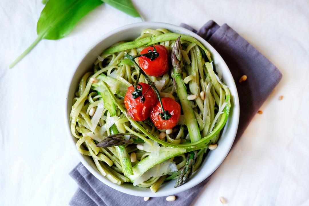 Spaghetti Baerlauch Spargel