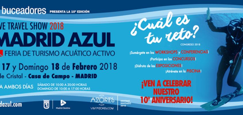 ACBEA en Madrid Azul – Dive travel show 2018 – 17 Feb. a las 15H Sala Atlántico