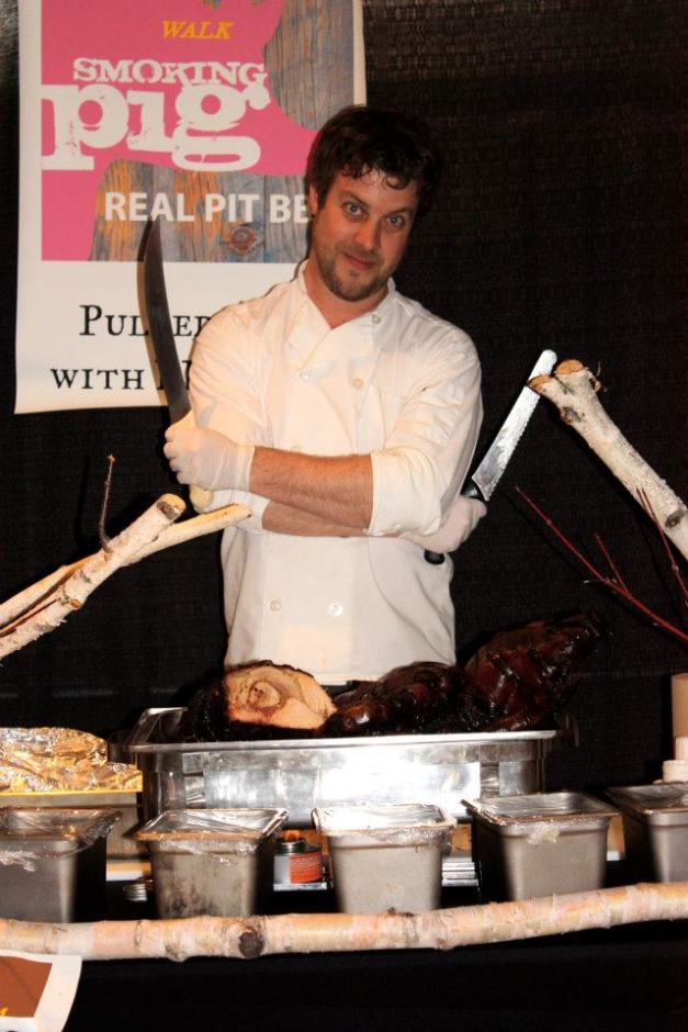 Jesse Vergen of Smoking Pig BBQ at SJBF 2012 (and will be back in 2013)