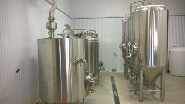Newly-installed brewing equipment