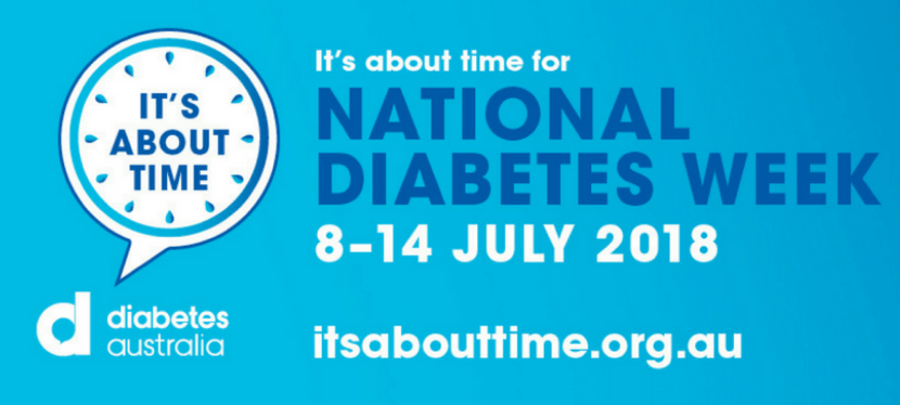 "National Diabetes Week 2018 – ""It's about time"""