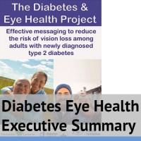 Diabetes Eye Health Exectutive Summary