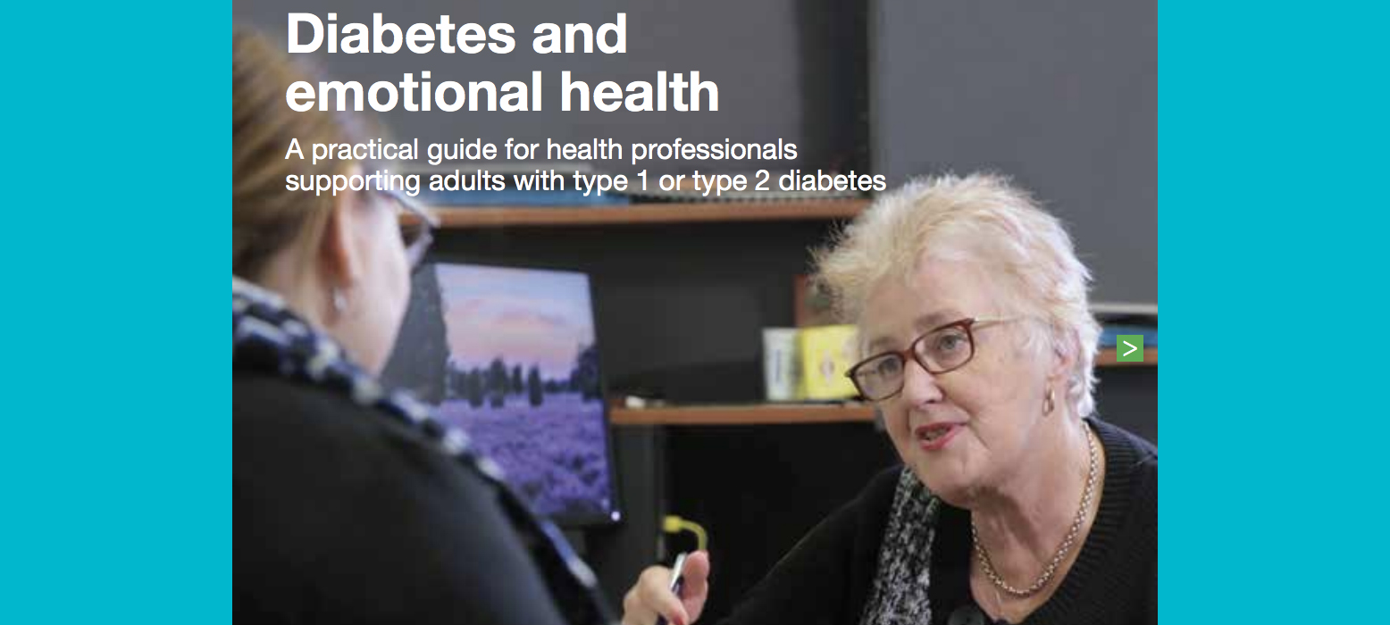 Diabetes and emotional health: A practical guide for health professionals –  2nd edition now available!