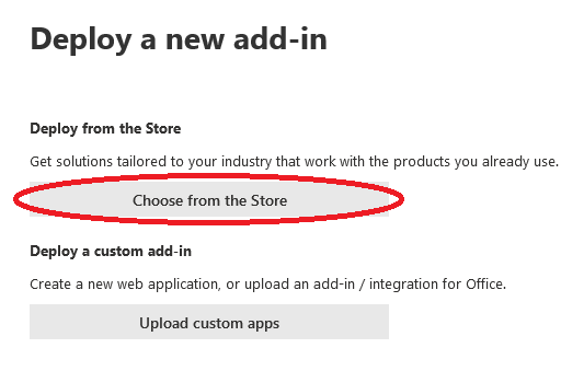 Choose Add on from store