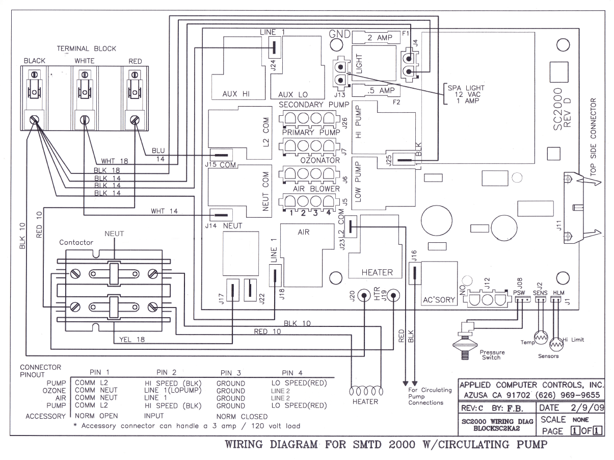 Jacuzzi Bath Tub Wiring Diagram