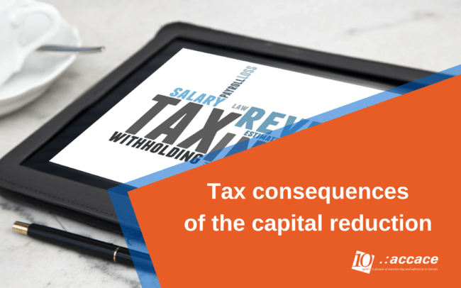 Tax treatment after a capital reduction in Ukraine