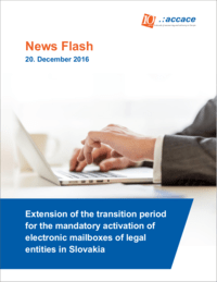 Extension of the transition period for the mandatory activation of electronic mailboxes of legal entities in Slovakia   News Flash