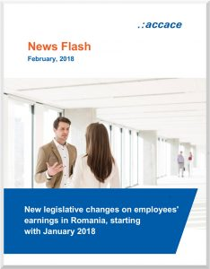 New legislative changes on employees' earnings in Romania, 2018