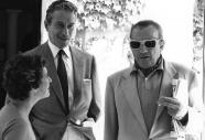 Amedeo Nazzari con la moglie Irene Ginna e Luchino Visconti
