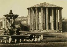 Tommaso Cuccioni (Italian, 1790-1864), Temple of Vesta, Rome, 1850-1859. Albumen silver print, 22 x 28 cm (85/s x n in.)