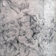 Peter Paul Rubens, 1601-02, due fogli di carta congiunti, gesso nero, 475 x 457 mm