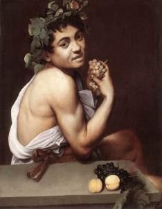 Bacchino malato 1593-1594, olio su tela 67 × 53 cm, Galleria Borghese - Roma.