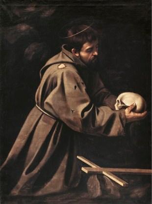 San Francesco in meditazione 1595 circa, olio su tela 128 × 97 cm, Galleria Nazionale d'Arte Antica.