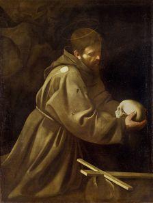 San Francesco in preghiera 1605, olio su tela 128 × 97 cm, Chiesa di Santa Maria Immacolata a via Veneto (spazio pubblico)