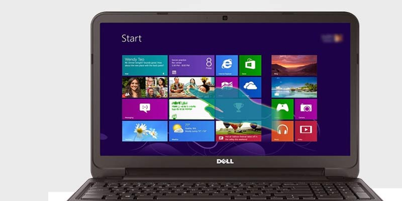 Factory setting restored Dell laptop