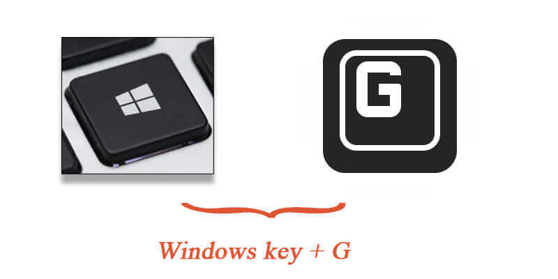 windows key + G to bring up the game bar