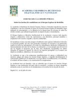 COMUNICADO A LA OPINIÓN PÚBLICA   Sobre los hechos de vandalismo en el Parque Explora de Medellín