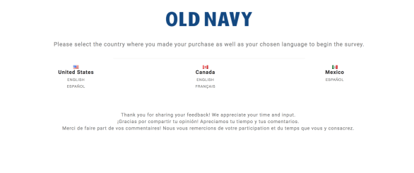 feedback 4 old navy