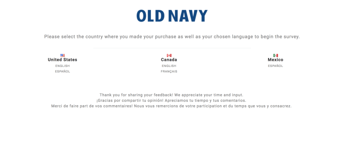 www.feedback4oldnavy.com survey