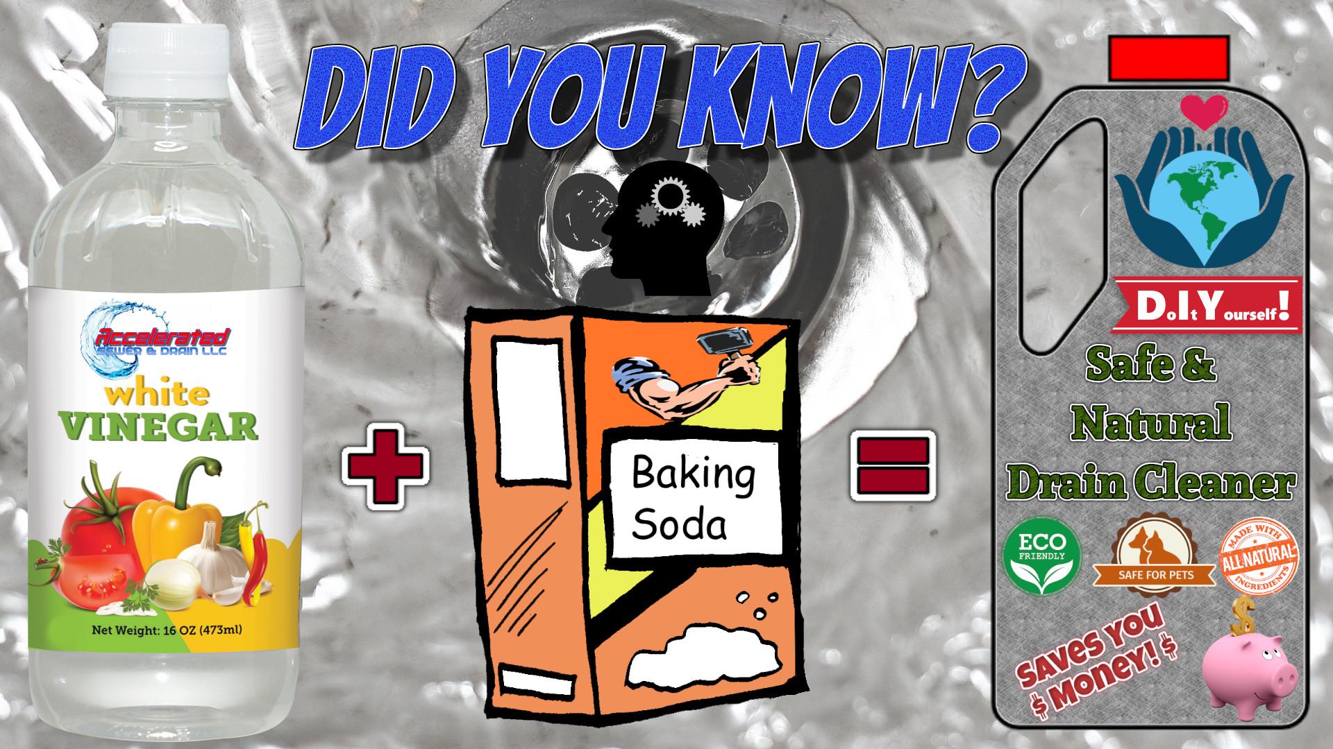 unclog drains with baking soda