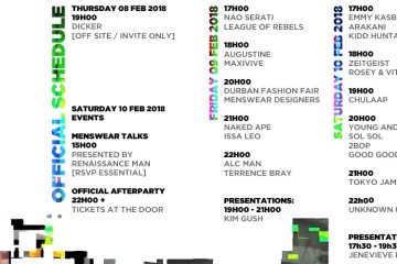 South Africa Menswear week schedule
