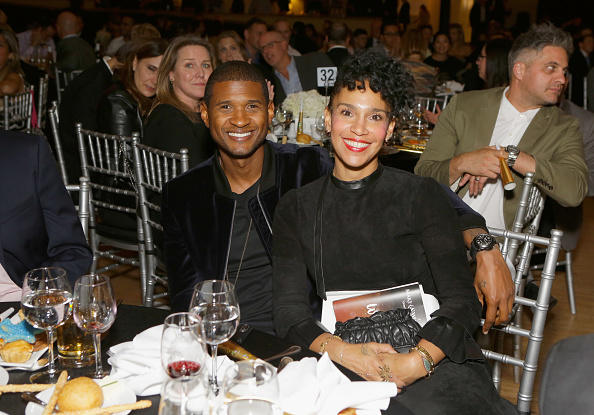 usher and wife