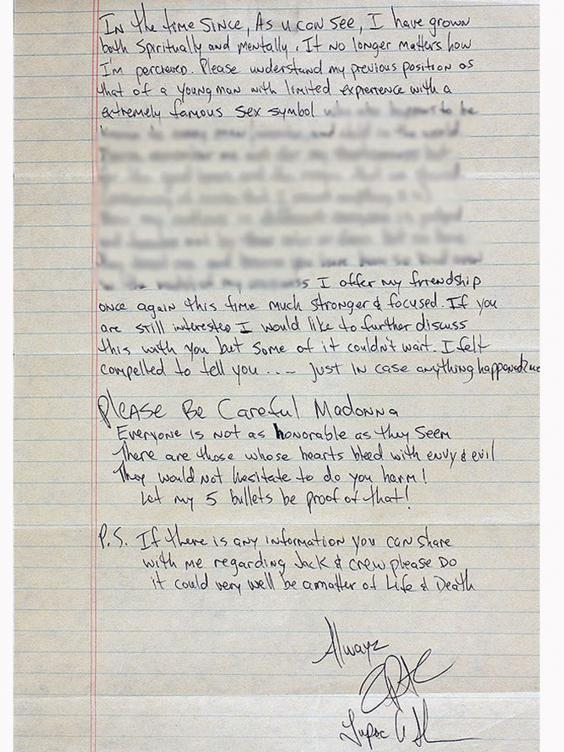 tupac's letter
