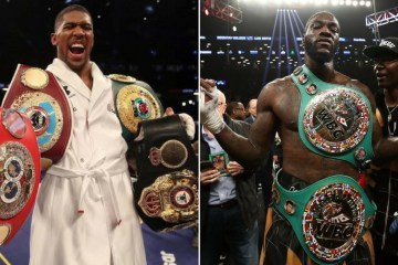 anthony joshua and deontay wilder