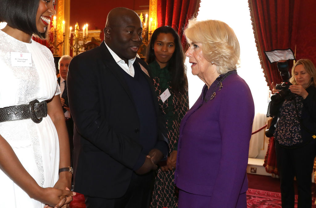 Camilla with Edward Enninful