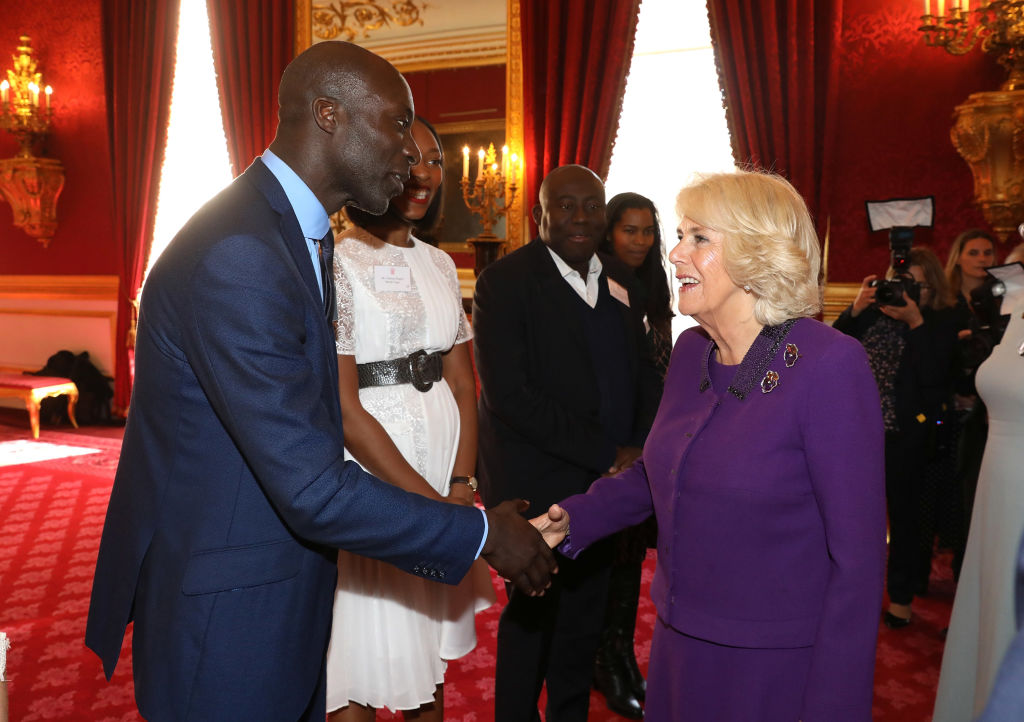 Camilla with Ozwald Boateng