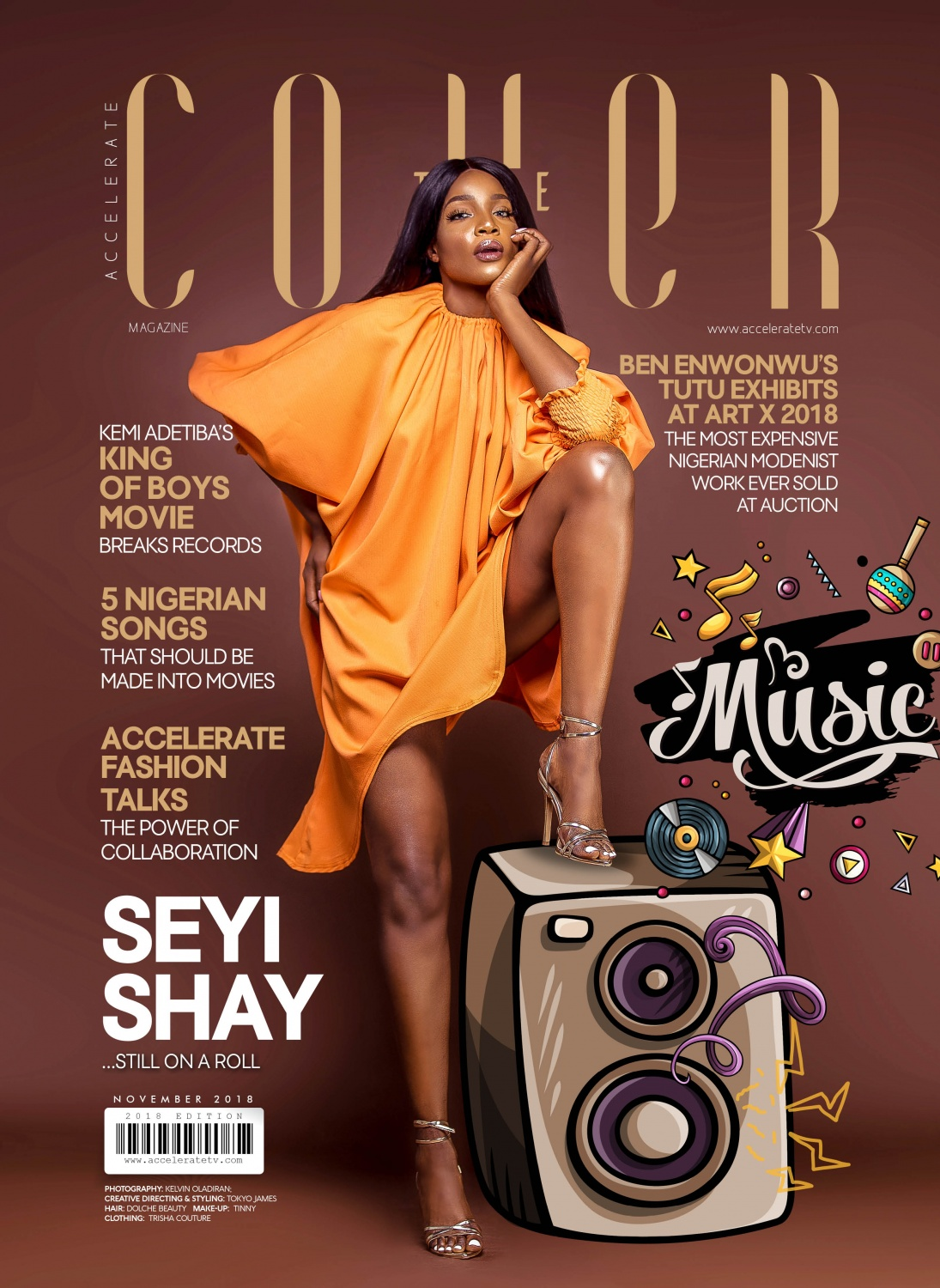 The Cover Nov' 2018 - Seyi Shay Is About To Take Over The