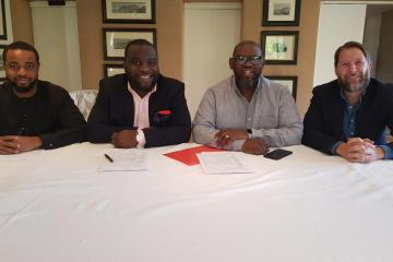 L-R Ezegozie Eze( General Manager of Universal Music Nigeria & Anglophone West Africa), Chidi Okeke (CEO Groove platforms), Sipho Dlamini (Managing Director of Universal Music Sub-Saharan Africa) and U (1)