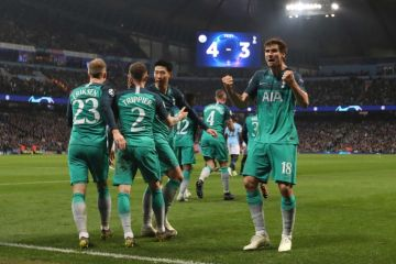 tottenham manchester city, champions league