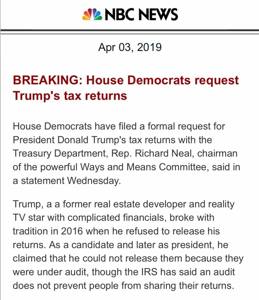 HOUSE SUBPOENA's TRUMP's TAXES!!! BIG NEWS!!!