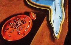Salvador Dalí. Detall de La persistència de la memòria. Popularment coneguda com Els rellotges tous. Després va pintar La desintegració de la persistència de la memòria, on curiosament les formigues ja no hi són presents.