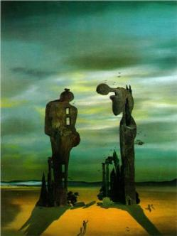 Salvador Dalí. Réminiscence archéologique de l'Angélus de Millet, 1935.