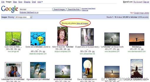 felicidad en google