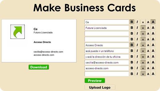 tarjetas de negocios gratis