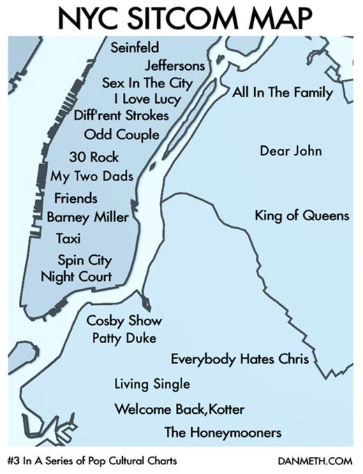 Sitcom Map NY