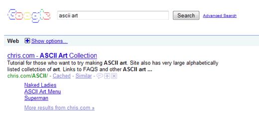 Ascii Google